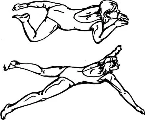 работа ног при плавании брассом