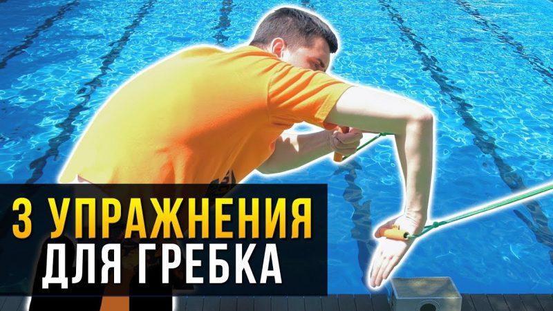 Сухое плавание. Упражнения с резиной